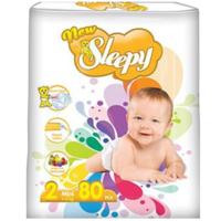 Sleepy Подгузники для детей 2, 3-6 кг, 80 шт.