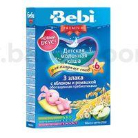 Bebi молочная ночная каша Premium 3 злака с яблоком и ромашкой 200gr.(6+)