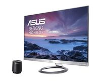"27.0"" ASUS ""MZ27AQ"", Gray/Black (IPS, 2560x1440, 5ms, 350cd, LED100M:1, HDMI+DP, 6Wx2+Subwoofer) (27.0"" IPS : W-LED, 2560x1440 WQHD, 5ms (GTG), 350 cd/m², DCR 100mln:1, 16.7M (real 8 bit), 178°/178° @C/R>10, HDMI + D-Sub + DisplayPort, Stereo Audio-In, HDMI Audio-In, Headphone-Out, Built-in speakers, External Power Adapter, Fixed Stand (Tilt -5/+22°), Light Gray/Black,  - Stylish ultra-slim profile is only 7mm thin;  - Frameless design suitable for multi-display use;  - Powerful 2.1-channel audio with two 6W stereo speakers and an external 5W subwoofer, co-developed with Harman Kardon  - IPS technology with stunningly wide 178° viewing angles;  - ASUS Eye Care, Flicker-free and Low Blue Light technologies )"