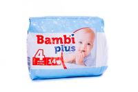 Подгузники для детей BAMBI PLUS maxi (4) (8-19) kg