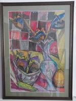 Натюрморт с тыквой, 70x50 см., пастель, бумага