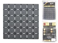 Набор ковриков для ванны 6шт 13X13cm Quadro серые