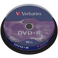 DVDR 4,7Gb 16x Cake 10 pcs VERBATIM