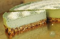 Чизкейк со спирулиной ( Торт Без белой муки, глютена и сахара )
