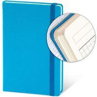 Ежедневник недатир. 13x21 см, 96 л, резинка, голубой