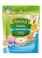 Каша Heinz Омега3 рисовая с молоком и грушей, с 4месяцев, 200г