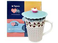 Set cana 330ml cu capac Relax Tea, in cutie cadou