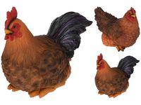 Статуэтка Петух-курица сидящие 24.5X20.5cm, керам.,3 позиции