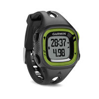 GARMIN Forerunner 15 - Small - Black & Green GPS Running Watch, Tracks distance, pace, heart rate and calories, Activity tracking counts steps and calories and reminds you when it's time to m
