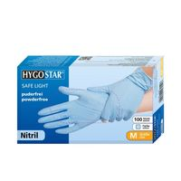 Перчатки NITRIL SAFE LIGHT, размер M, ГОЛУБЫЕ, 100шт, HYGOSTAR, FM
