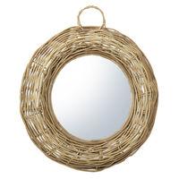 cumpără Oglindă rotundă, 640x70x640 mm, rattan în Chișinău