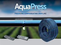 cumpără Linie de picurare cilindrica AQUAPRESS dn16mm/75cm/2,2l.h./45mil Plastic Puglia în Chișinău