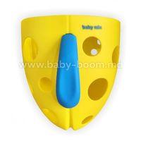 Baby Mix YU/BH-708 Ёмкость для купальных игрушек желтая