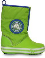 Kids' CrocsLights Gust Boot Volt Green / Varsity Blue