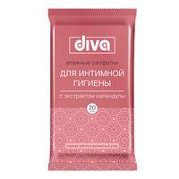 Влажные салфетки для интимной гигиены DIVA с календулой 20 шт