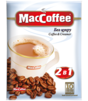 MacCoffee 2в1 без сахара (10пак в упаковке)