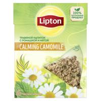 Lipton травяной чай в пирамидках с ромашкой и мятой, 20 пак.