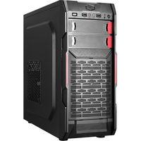 HPC B-09 ATX Case, (500W, 24 pin, 2xSATA, 12cm fan), 1xUSB3.0, 2xUSB2.0 / HD Audio, Black + Red decoration