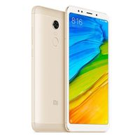 "5.99"" Xiaomi RedMi 5 Plus 32GB Gold 3GB RAM, Qualcomm Snapdragon 625 Octa-core 2.0GHz, Adreno 506, DualSIM, 5.99"" 1080x2160 IPS 403 ppi, microSD, 12MP/5MP, LED flash, 4000mAh, FM-radio, WiFi-AC, BT4.2, LTE, Android 7.1 (MIUI9), Infrared port, Fingerprint"