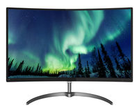 """27.0"""" Philips """"278E8QJAB"""", G.Black (Curved VA, 1920x1080, 4ms, 250cd, LED20M:1, HDMI+DP+VGA, Spk) (27.0"""" Curved VA W-LED, 1920x1080 Full-HD, 0.311mm, 4 ms GTG, 250 cd/m², DCR 20 Mln:1 (1000:1), 16.7M Colors, 178°/178° @C/R>10, 54~84 KHz(H)/ 49~75Hz(V), HDMI + DisplayPort + Analog D-Sub, Audio-In, Headphone-Out, Built-in Speakers: 3Wx2, External Power Adapter, Fixed Stand (Tilt -5/+20°), VESA Mount 100x100, AMD Free Sync, Ultra Wide-Color, Flicker-free, Elegant slim design, Black-Glossy)"""