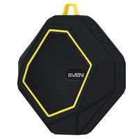 Bluetooth Portable Speaker SVEN PS-77BL 5W, Black/Yellow