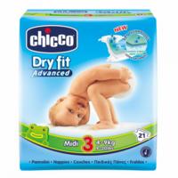 Chicco подгузники Мidi 3, 4-9кг. 21шт