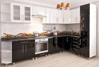 Bucătărie Bafimob Corner (High Gloss) 3.4x1.7m White/Black
