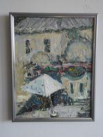 Старый Кишинев (ул. Матеевич-Армянская), 35x27 см., холст, масло
