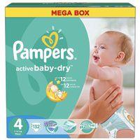 Pampers подгузники Maxi Mega Box 4 7-14 кг, 132 шт