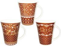 Чашка конус с бронзовым орнаментом 350ml