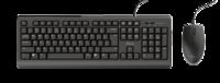 Клавиатура + мышь Trust Primo set, Black