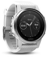 GARMIN fenix 5S Slate Silver with Carrara white band