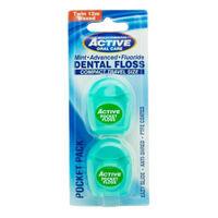 Зубная нить Active  Мята, 2x12 м