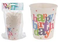 """купить Набор бумажных стаканов """"Happy Birthday!"""" 10шт, 250ml в Кишинёве"""