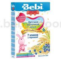 Bebi молочная каша Premium 7 злаков с черникой 200gr.(6+)