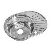 Кухонная  мойка  ROSSING  604  0.6  риф  правая