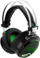 Headset Gaming Esperanza TOXIN EGH460, Green LED backlight, 1x mini jack 3.5mm + 1x USB 2.0, Drivers 40mm, Volume control, Cable length 2m, Weight 380g