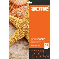ACME Photo Paper (Value pack) A4 220 g/m2 50 pack Matte DOUBLE SIDED