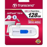 Flash Drive Transcend JetFlash 790 White 128Gb