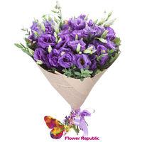 купить Фиолетовый букет эустом в Кишинёве