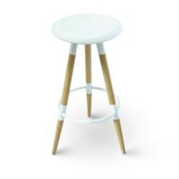 купить Барный стул с поверхностью из MDF и деревянными ножками, 370x780.5 мм, белый в Кишинёве