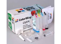 CISS ColorWay EP-C63 BK/C/M/Y, Epson C63/C65/C83/C85/CX3500/CX4500/CX6300/CX6500 (w/Ink, w/Cartridge+Chip)