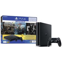 Game Console Sony PlayStation 4 Slim 1Tb + Day Gone + God of War + The Last of Us