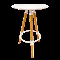 cumpără Masă - bar cu blat rotund de culoare albă. Dimensiuni: 600x1050 mm în Chișinău