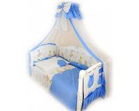 Сменная постель Comfort С-020 в горошек голубой, код 42080