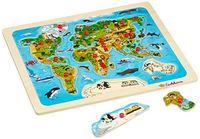 Eichhorn Пазл деревянный Карта мира, 13 деталей