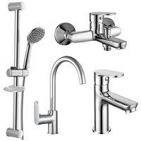 LASKA набор смесителей (4 в 1) для ванны и кухни (кухня)