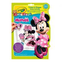 Crayola 81-1372 Книга-раскраска с наклейками Минни МаусРазукрашка Mickey