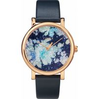 Crystal Bloom With Swarovski® Crystals 38mm Leather Strap Watch