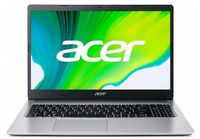 "ACER Aspire A515-44 Pure Silver (NX.HW4EU.00N) 15.6"" IPS FHD (AMD Ryzen 5 4500U 6xCore 2.3-4.0GHz, 8Gb (2x4) DDR4 RAM, 256GB PCIe NVMe SSD+HDD Kit, AMD Radeon Graphics, WiFi-AC/BT, Backlit, 3cell, HD webcam, RUS, No OS, 1.9kg)"